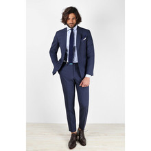 2017 Smoking Custom Made Navy Bule Men Suits Fashion Blazer Bespoke Classical Tuxedos Formal Office Dress