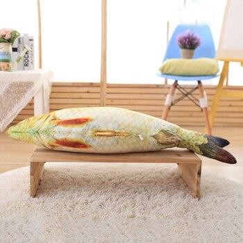 1PC Creative Pet Cat Kitten Chewing Cat Toys Catnip Stuffed Fish Interactive Kitten Product 20cm 30cm 40cm four sizes 1