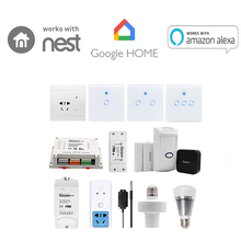 Ewelink sonoff interruptor wifi, temporizador inteligente, sem fio, interruptor diy, 1/2/4 canais, mqtt, coap, android, ios, controle remoto inteligente casa casa