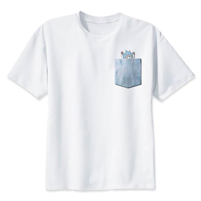 Rick and Morty   t     shirt   Men rick morty print   T  -  Shirts   Novelty funny clothes tshirts man white tee   shirts   pickle rick male Tops