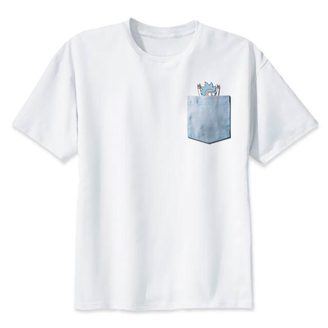 ddbcacde34 Rick and Morty t shirt Men rick morty print T-Shirts Novelty funny clothes  tshirts
