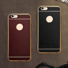 High Quality soft phone case for iphone 6 6s TPU Protective phone Case cover for iphone 6 6s Black/ Brown/ Rosy J25 kalaideng england series protective pu leather case for iphone 6 reddish brown