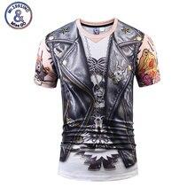 Brand New font b Clothing b font Summer Fashion 3D Print T shirt Fake Two Piece