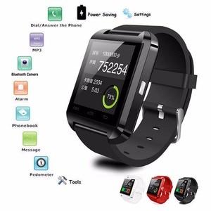 Image 2 - Nouvelle Smartwatch Bluetooth Sport montre intelligente U8 pour IPhone IOS Android téléphone intelligent usure horloge dispositif portable Smartwach GT08 DZ09