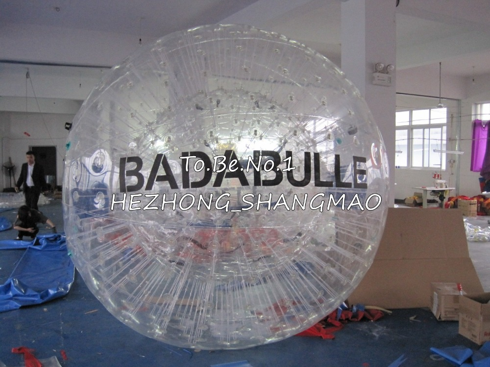 2.3M*1.8M Inflatable Zorb ball Zorbing Human Hamster ball 1300W Blowers X1 free shipping inflatable water walking ball water rolling ball water balloon zorb ball inflatable human hamster plastic ball