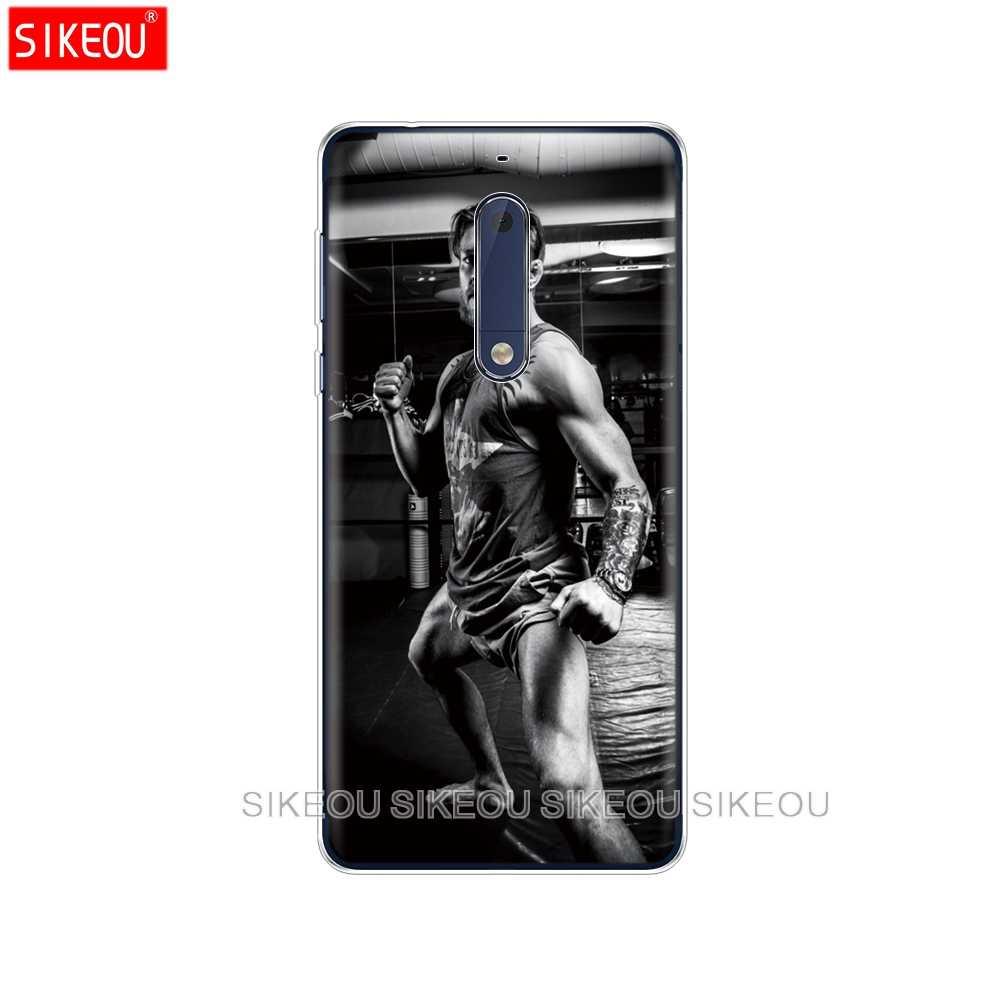 Silicone Cover Phone Case untuk Nokia 5 3 6 7 Plus 8 9/Nokia 6.1 5.1 3.1 2.1 6 2018 Conor McGregor