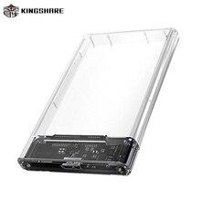 KINGSHARE enclosure External Storage 2.5 case sata adapter to Micro_B hard drive enclosure ssd sata to Micro_B KS-C25BT