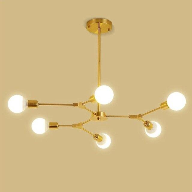 LuKLoy Post Modern Branch Chandelier Lamp Gold Black Ceiling Living Dining Room Bedroom Shop