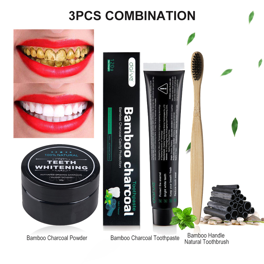 120g Activated Charcoal Teeth Whitening Toothpaste Oral Hygiene