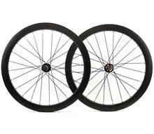 700C Road Disc Brake Rear asymmetric carbon wheels 50mm depth 25mm width clincher/tubular Disc Cyclocross Bikecarbon wheelset