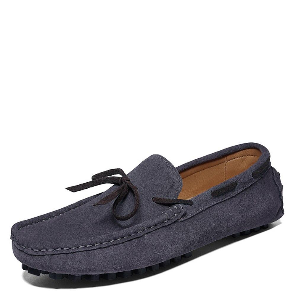 Camurça Oxfords brown Vaca Confortáveis Sapato Dos De Casuais Homens gray Sapatos blue Mocassins Couro Apartamentos Nova Black Moda Qffaz Condução UqR7ZwA