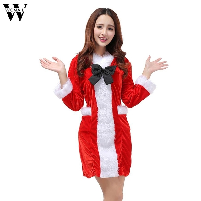 Womail sexy christmas party mini dress 2017 new office lady womail sexy christmas party mini dress 2017 new office lady costume xmas hooded dress ol outfit sciox Choice Image