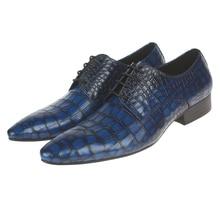 Змеиный синий/Черный/коричневый загар oxfords обувь мужская свадебные туфли из натуральной кожи бизнес обувь мужская платье обувь