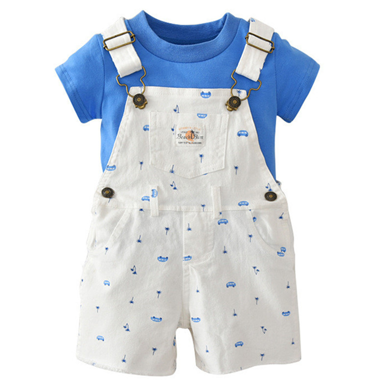 2pcs Baby Boys Clothes Set Summer 2018 New Baby Boy Clothing Set Cotton Baby Clothes Infant Kids Clothes tshirts Baby Romper Set