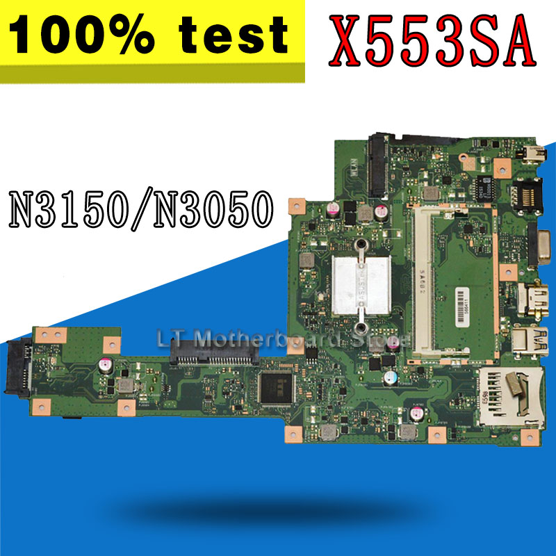 Original for ASUS For ASUS X553SA Laptop motherboard X553SA mainboard N3150/N3050 Integrated 100%tested motherboard for asus k52n laptop motherboard 100% tested