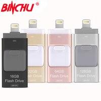 BINCHU iOS10 Lightning OTG Flash Drive 8 GB 16 GB 32 GB 64 GB Voor iOS en USB Voor PC Tablet OTG Pendrive voor iPhone otg U Disk