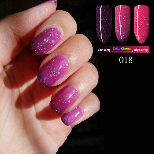 Qt NAils Gel Nail Polish Temperature Change Color UV Gel Polish