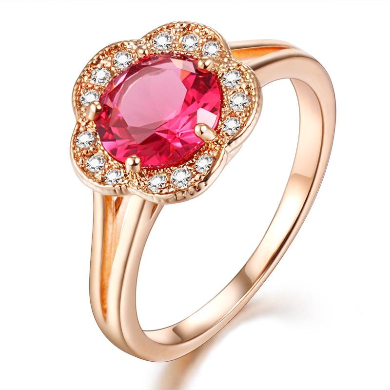natural gemstones and semi precious stone red corundum rose gold ...