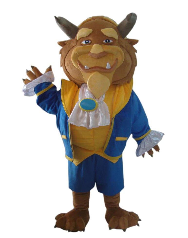 Adulte la belle et la bête costume la bête mascotte costume à vendre cosplay costumes