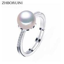 Zhboruini 2019 кольцо с искусственным жемчугом женское 8 9 мм