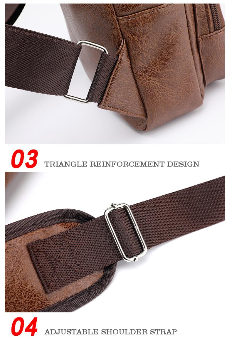 Men's Crossbody Bags Men's USB Chest Bag Designer Messenger bag Leather Shoulder Bags Diagonal Package 2019 new Back Pack Travel 8