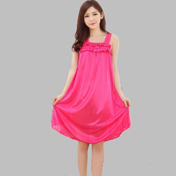 Women Sleepwear Dresses Sleeveless font b Nightgowns b font Sexy Summer Dress Ladies Nightdress Casual Large