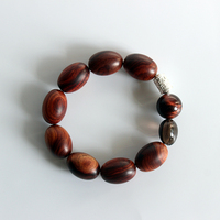 Wholesale Sanders Wood Tibetan Buddhist Mantra Charm Tiger Eye Stretch Bracelets For Men Woman Yoga Meditation Jewelry Unique
