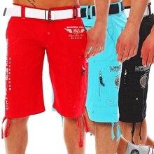 Zogaa Hot New Summer Mens Shorts EU Size XXL Pocket Elastic Waist Letter Emboridary Men Jogger Beach