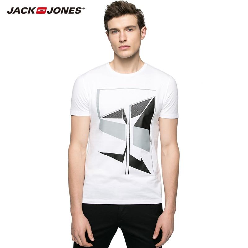 JackJones marke männer hohe qualität komfortable 100% baumwolle T-shirts male print tops...