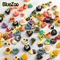 BlueZoo 100 pcs Cores Misturadas Bonito Bolo Forma Nail Art Decoração Resina Ice Cream Decoração Dicas de Beleza Maquiagem Acessórios DIY ferramentas