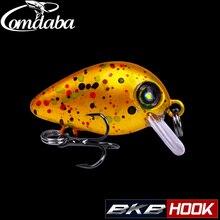 COMDABA 1pcs Swim Fish Fishing Lure 2.6cm 1.6g Artificial Hard Crank Bait topwater Wobbler Japan Mini Fishing Crankbait lure