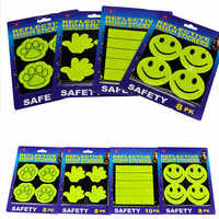 Outdoor Cycling Safe Reflective Stickers Baby Safety Reflector Decal for Bikes Children's school bag safety stickers