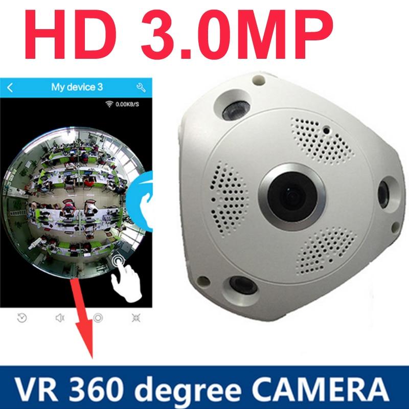 360 Degree Panorama Camera 3.0MP 1080P  HD Wireless VR IP Camera CCTV Security Surveillance cam P2P VR CCTV wifi monitor
