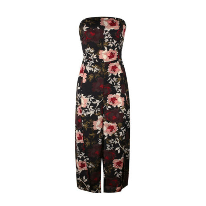 UK Bandage Tube Top Jumpsuit Women Ladies Print Clubwear Summer Playsuit Bodycon Party Jumpsuit Romper Trousers Femme