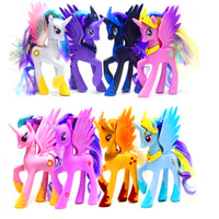 CUTE Little Pvc Model Figures Horse Unicorn Luna Nightmare Moon And Princess Celestia Mini Toys Doll