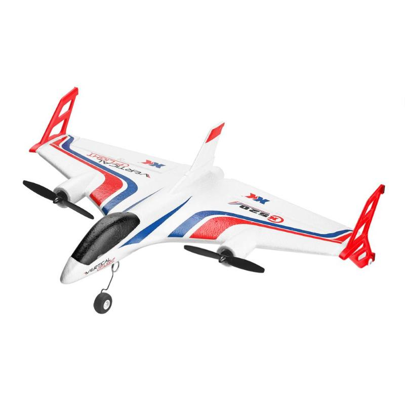 Wltoys X520-A Airplane VTOL Vertical Takeoff Land Delta Wing RC Drone Fixed Wing Plane Toy with Mode Switch LED Light image