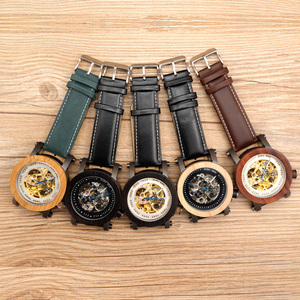 Image 2 - BOBO BIRD Mens Wooden Watch Mechanical Watch Mens Top Luxury Brand with Real Leather Strap in Gift Box relojes hombre