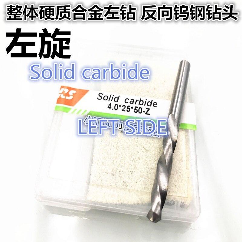 Carbide Solid  Left Twist Drill Bit   Tungsten Steel Drill Bit  1.5mm 2  2.5  3   3.5