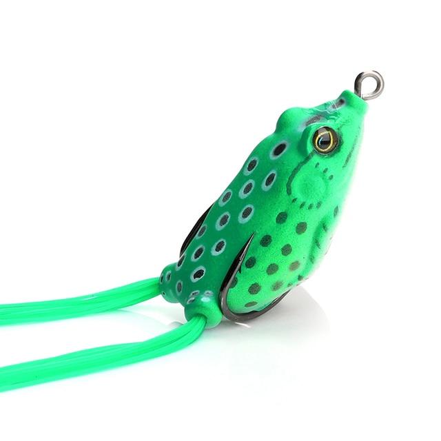 2 Pack Frog Topwater Soft Fishing Lure 12 Gram Bass Fishing Bait 5.5 CM
