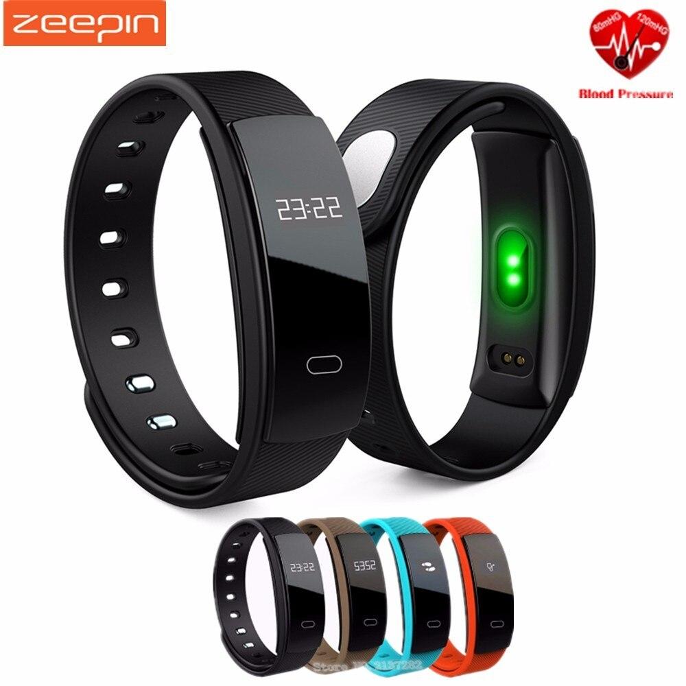 imágenes para Zeepin QS80 Aptitud Del Ritmo Cardíaco Del Sueño Inteligente de Pulsera Brazalete de Presión Arterial Medida Impermeable Rastreador de Llamadas para el Teléfono Del Moblie