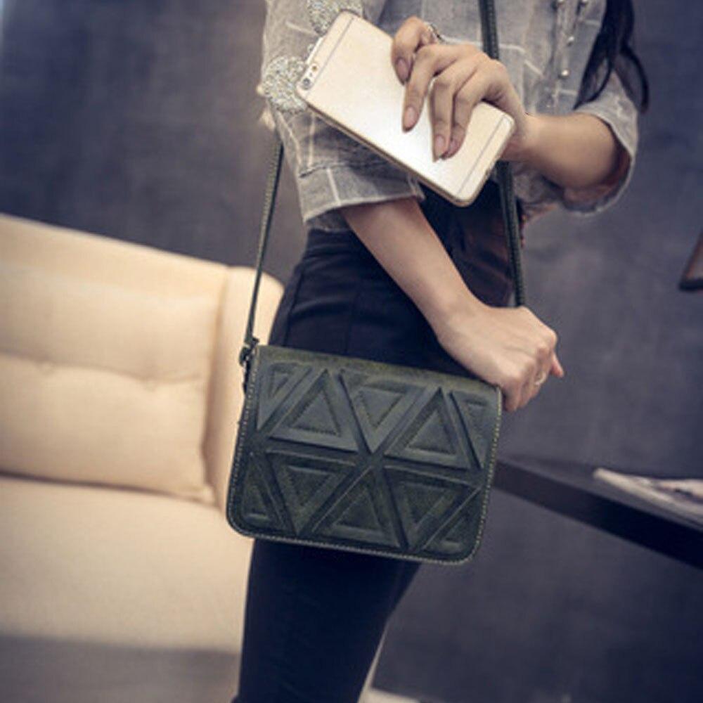 2017 New Triangle Stitching Retro Fashion Famose Brand Handbags Female Women Messenger Bag borse da donna