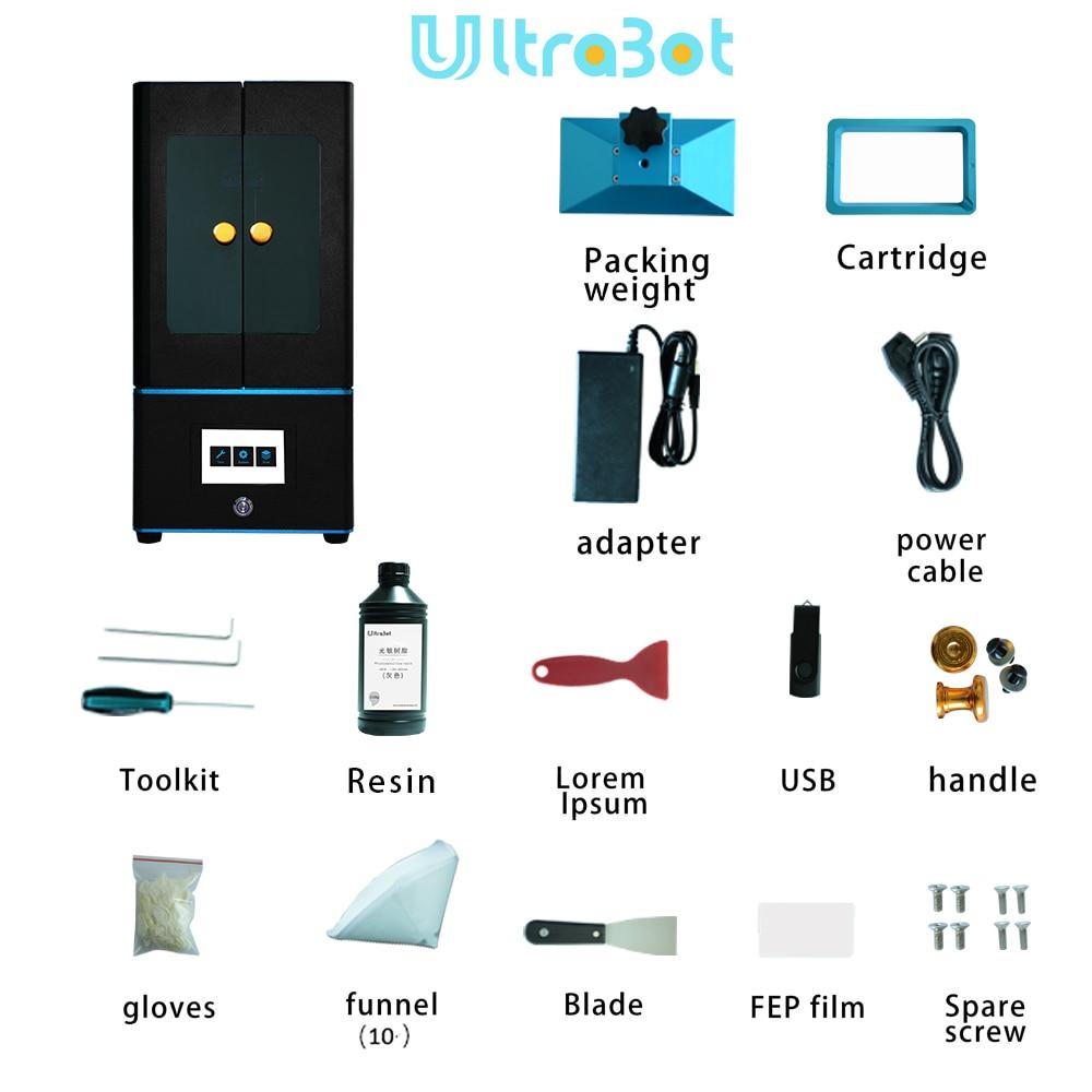 Tronxy ultrabot 3D imprimante Kit tactile LCD écran UV-LED ultime tranche vitesse grande taille bureau SLA 3d imprimante Uv résine 3D Drucker - 3