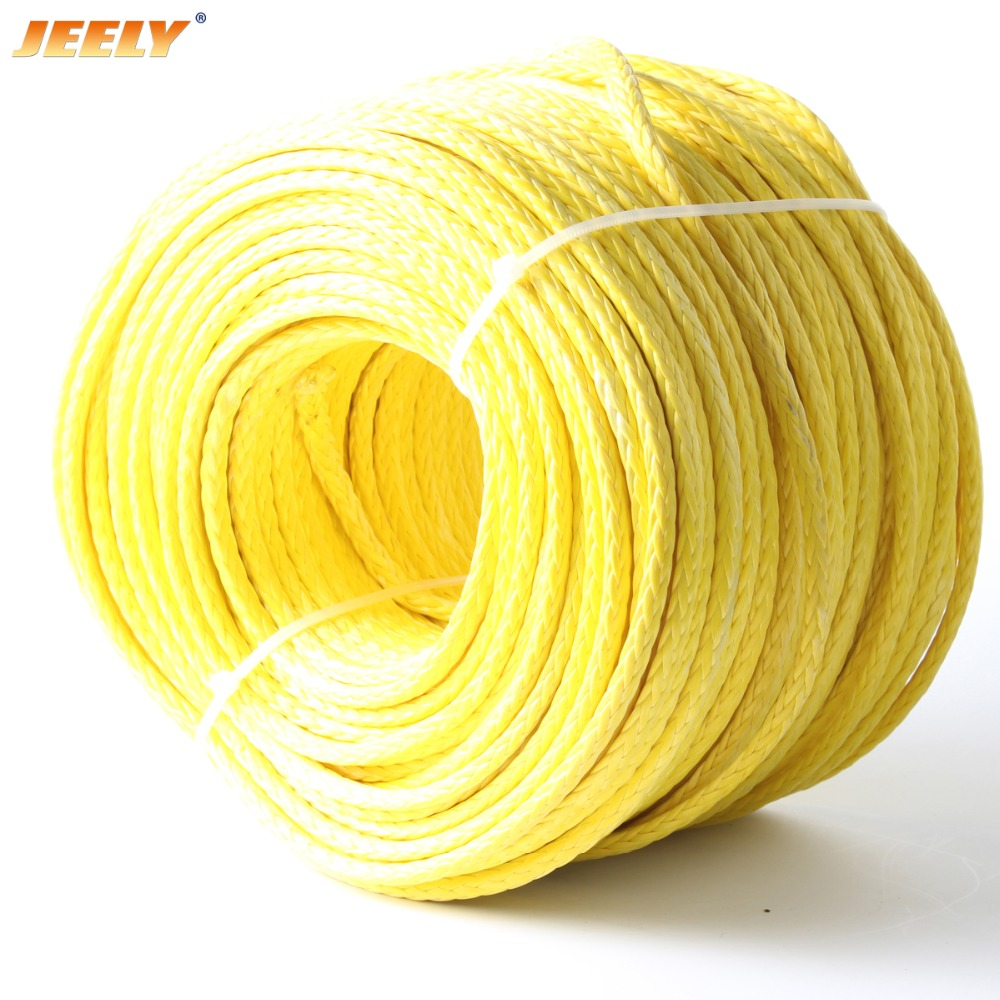 JEELY Hollow Braid 4mm 10M 12 Strands Sailboat Winch Towing Ropes