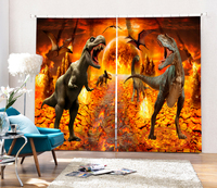 Time Of The Jurassic Bedroom Living Room Kitchen Home Textile Luxury 3D Window Curtains Dinosaur Gift For House