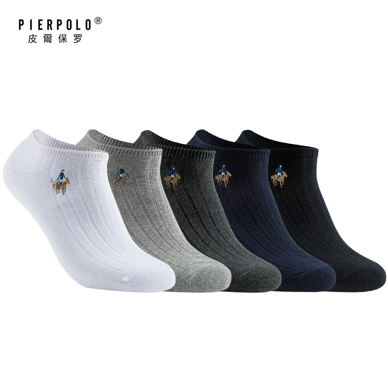 2019 NEW Men Cotton   socks   10pcs=5pairs/lot High quality Business Brand dress Men's ankle   Socks   Breathable summer Man size39-44