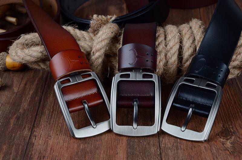حزام COWATHER جلد طبيعي للرجال 1