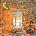 Cristal de sal do himalaia lâmpada luzes quarto Luz de cabeceira voz ajustável Saúde anion Ferro candeeiro de mesa Olho
