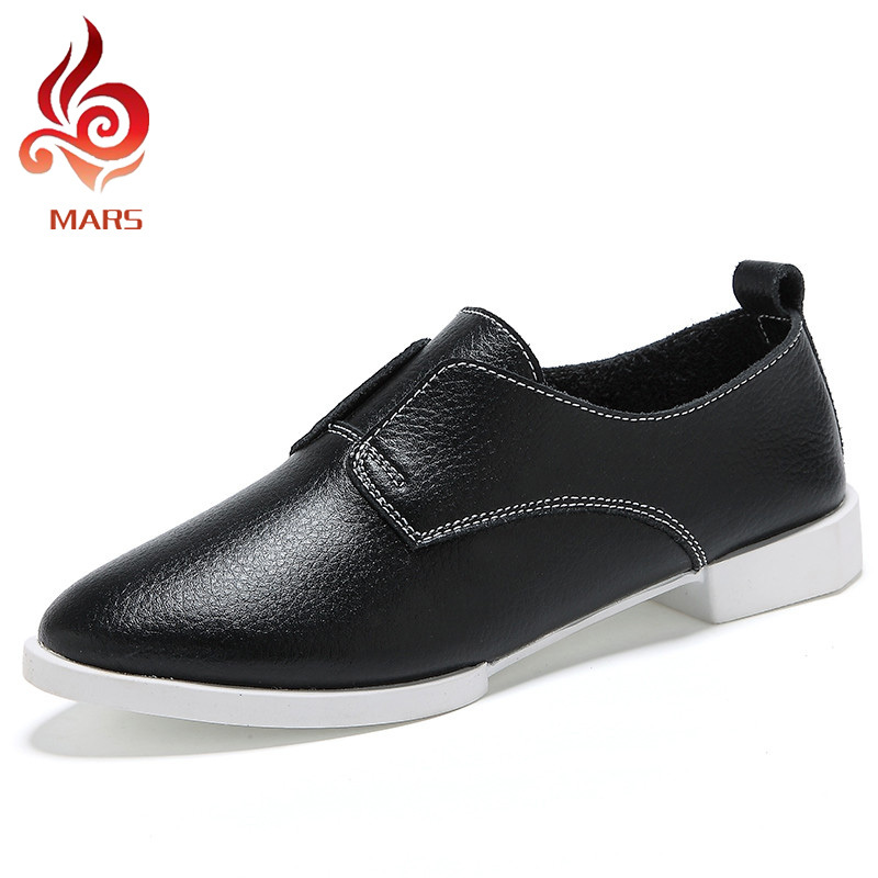 Summer Style Women Oxfords Fashion Genuine Leather Shoes Woman British Style Oxford Shoes Soft