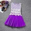 Summer girls dresses lattice Lace tutu princess dress sleeveless cotton dress for children clothing toddler baby girls dress