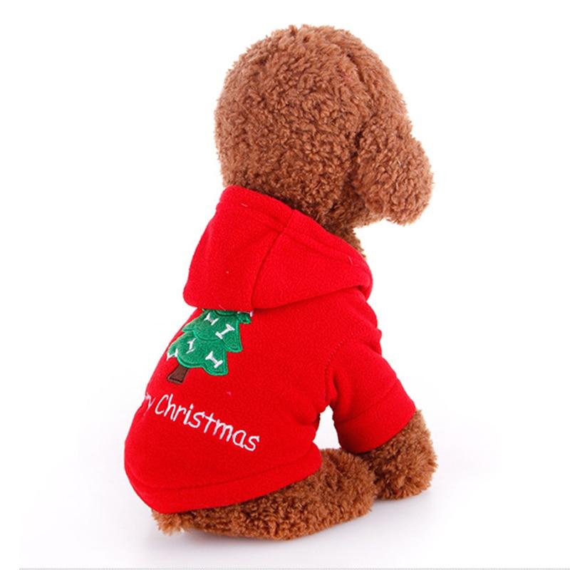Pet Dog Clothes Christmas Suits Soft Santa Claus Costume Outwear Coat Winter